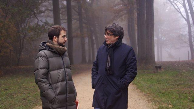Carles Puigdemont, entrevistado desde Bélgica