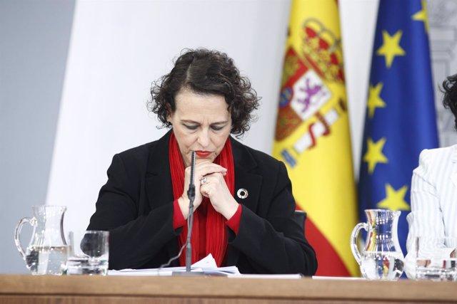 Rueda de prensa tras el Consejo de Ministros