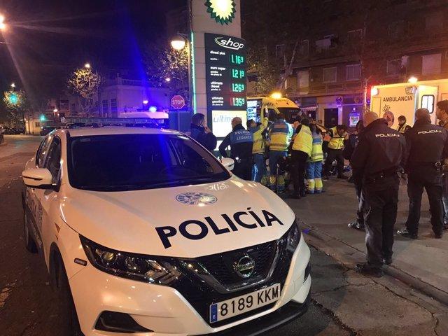 Suceso en una gasolinera de Leganés