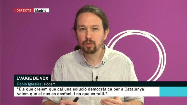 Pablo Iglesias en TV3