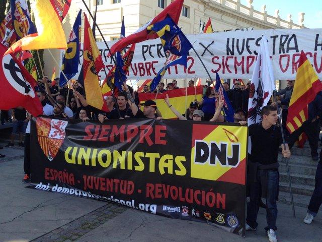 Concentración de ultraderecha en Barcelona el 12 de Octubre (2013)