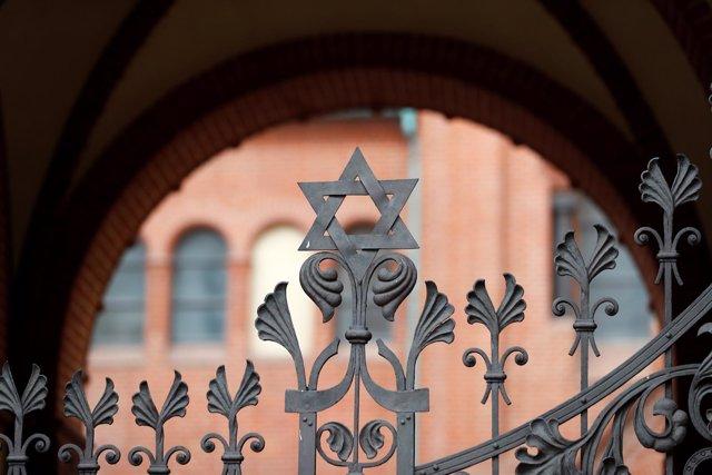 Estrella de David en la sinagoga Rykestrasse de Berlín