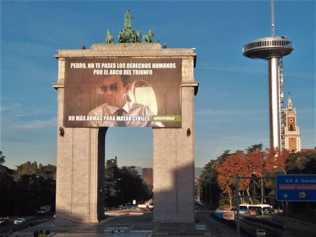 Pancarta de Greenpeace Día de los Derechos Humanos
