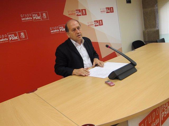El portavoz del grupo parlamentario del PSdeG, Xoaquín Fernández Leiceaga.