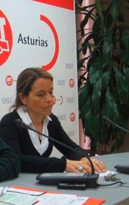 La secretaria de Política Sindical de UGT Asturias, Mar Celemín