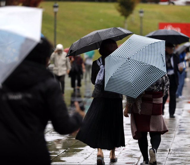 Temporal de lluvia en Madrid