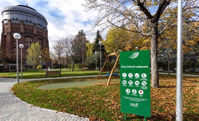 Nuevo parque de Chamberí en el Canal de Isabel II