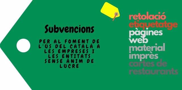 Cartel subvenciones del Consell para el uso del catalán