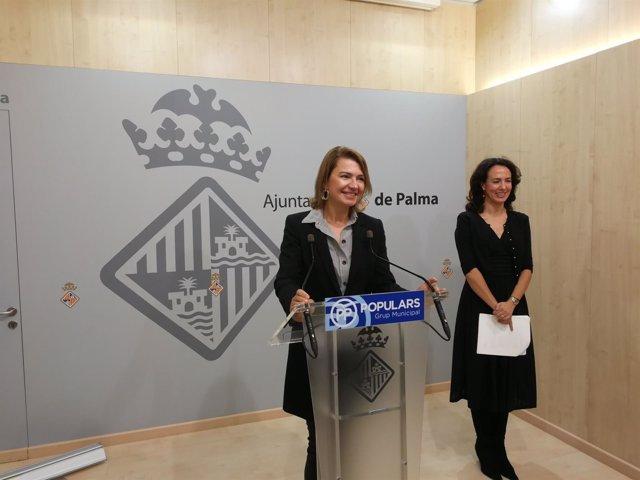 Portavoz municipal PP en Cort, Marga Durán, y Regidora Lourdes Bosch