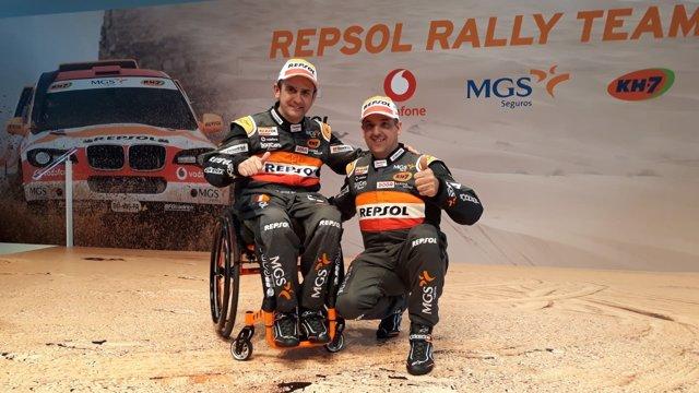 Isidre Esteve y Txema Villalobos, antes del Dakar 2019