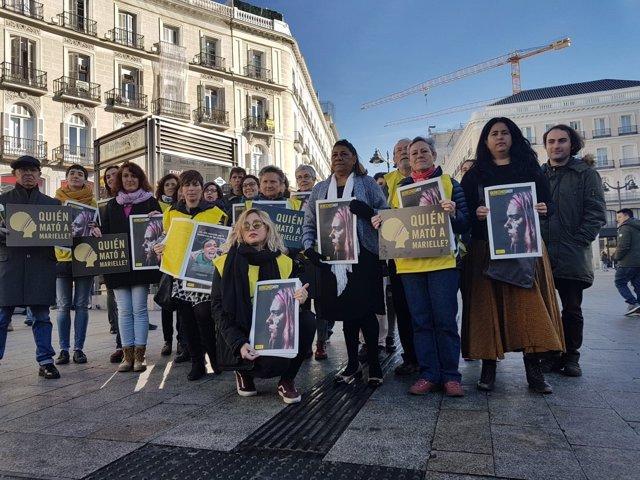 Miembros de Amnistía Internacional presentan el informe de 2018 en Madrid
