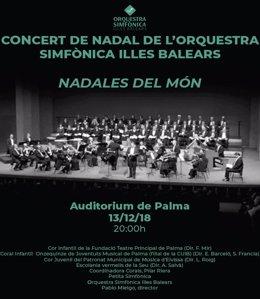 Cartel concierto Villancios Orquesta Sinfónica