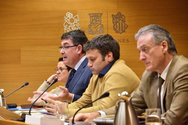 Enric Morera interviene en la comisión de Crespo Gomar
