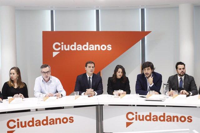 Reunión del Comité Ejecutivo Nacional de Ciudadanos en Madrid