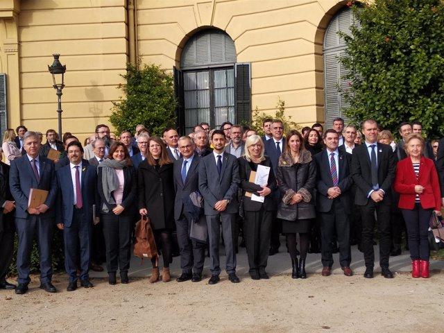 La Mesa Estratégica del Corredor Mediterráneo tras reunirse en Barcelona