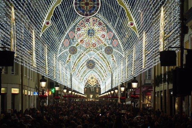 Luces de Navidad en Málaga 2018