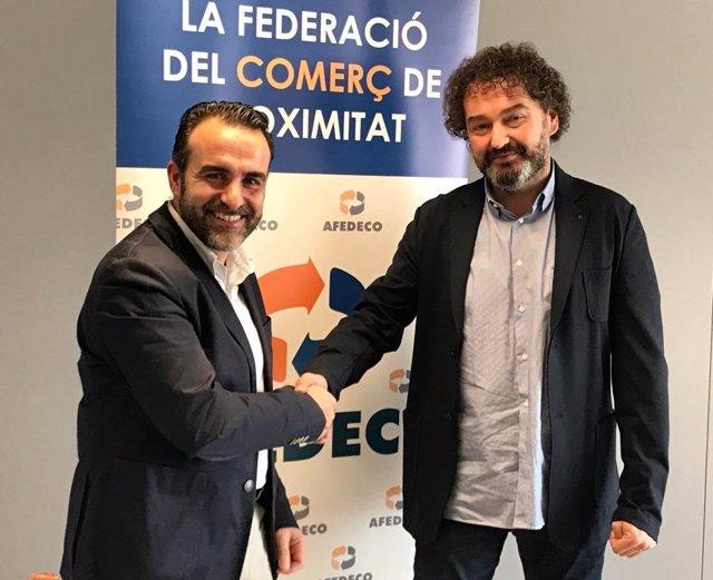 De izquierda a derecha, Rafael Ballester y Antoni Gayà