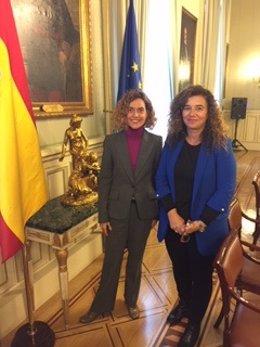 Consellera de Presidencia, Pilar Costa,  en una conferencia sobre la UE e Madrid