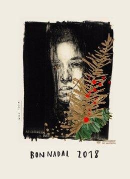 Cartel de Navidad de València 2018 de Paula Bonet