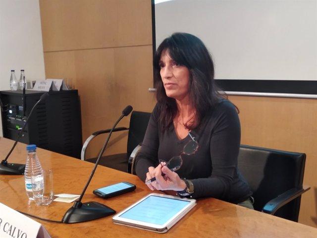 La portavoz de los presos soberanistas en huelga de hambre, Pilar Calvo
