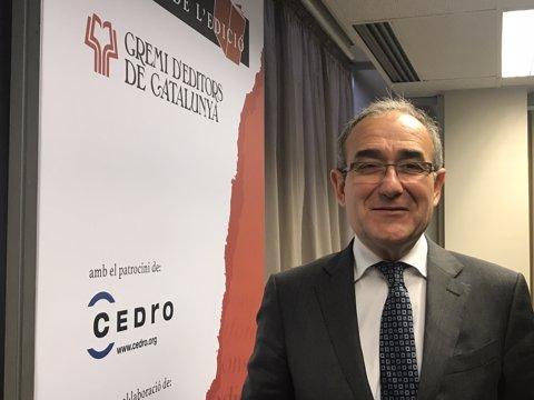 El president del Gremi d?Editors de Catalunya, Patrici Tixis