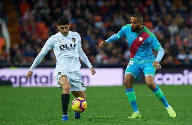 Soccer: Valencia  v Rayo Vallecano - La Liga match