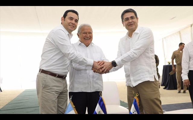 Los países del Triángulo Norte inauguran un puesto fronterizo en El Salvador para impulsar la unión aduanera