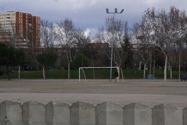 Campo de futbol, porteria