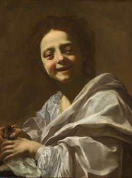 Retrato de niña con paloma, de Vouet