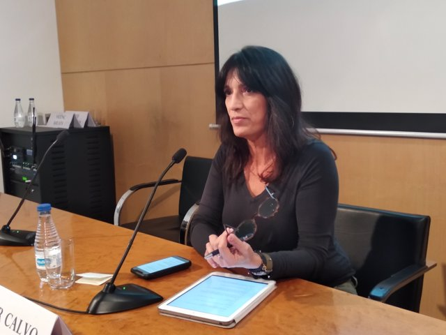 La portaveu dels presos sobiranistes en vaga de fam, Pilar Calvo