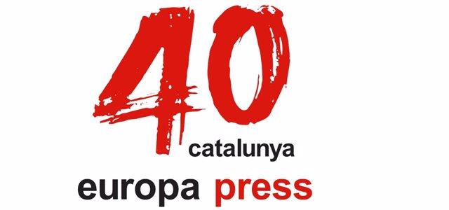 Logo del 40 aniversario de Europa Press de Catalunya