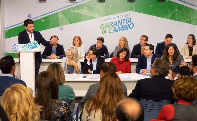 Beltrán Pérez interviene ante la Junta Directiva del PP de Sevilla