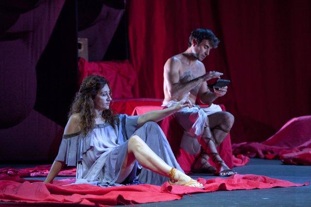 Fotografía de la obra de teatro 'Nerón' en el Principal de Alicante