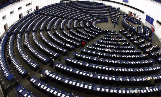 Interior del Parlamento Europeo   Eurocámara   Estrasburgo