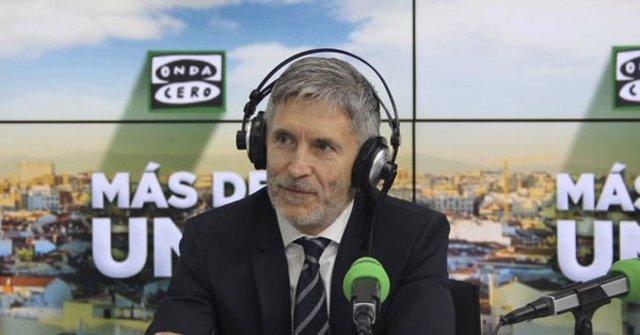 Entrevista en Onda Cero al ministro de Interior, Fernando Grande-Marlaska