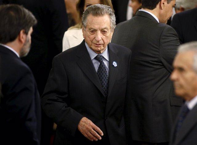 Tycoon Franco Macri, father of Argentina's President Mauricio Macri, arrives for