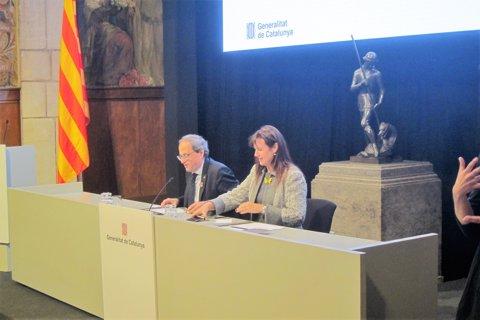 El Pte.de La Generalitat Q.Torra I La Consellera L.Borràs