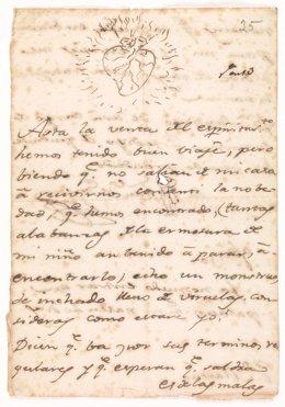 Carta de Goya a su amigo Zapater