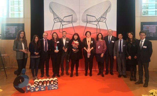 Ganadores de la IV edición de los Premios Somos Pacientes