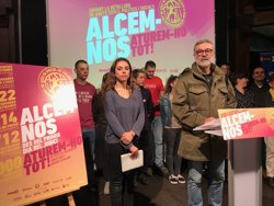 El diputat de la CUP Carles Riera i la portaveu de SEPC Laia Casas