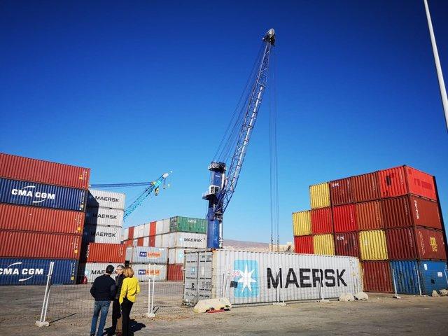 Tráfico de mercancías en el Puerto de Almería