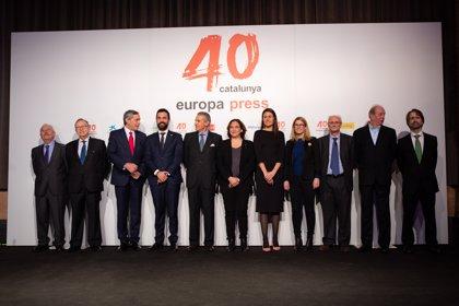 300 persones participen en la celebració del 40è aniversari d'Europa Press de Catalunya