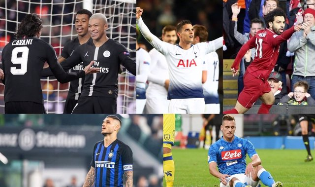 Champions Liga Campeones clasificados eliminados