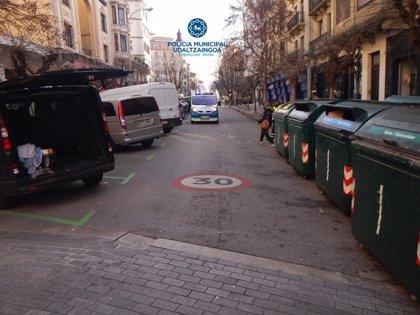 Herida una mujer de 71 años en Pamplona al ser atropellada por una motocicleta