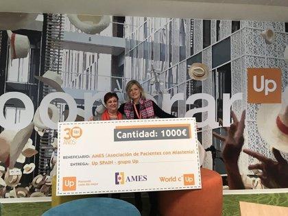 Up SPAIN entrega un Cheque Solidario a AMES