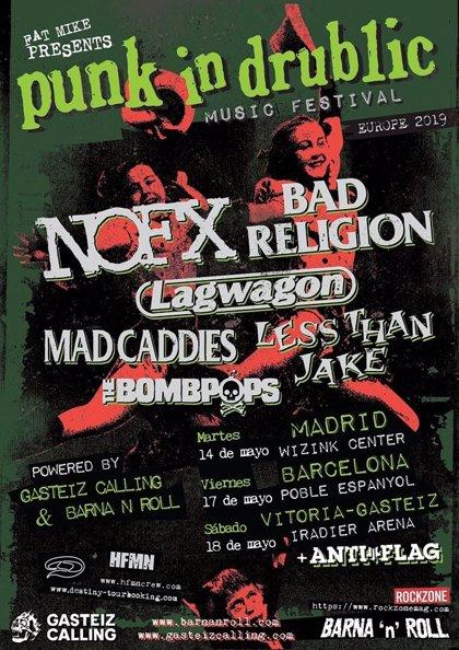 NOFX, Bad Religion y Lagwagon pasarán por Madrid, Barcelona y Vitoria en el Punk in Drublic Fest
