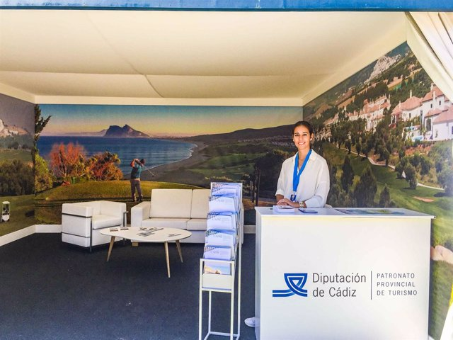 Stand del Patronato de Turismo de Cádiz en el Andalucía Valderrama Master