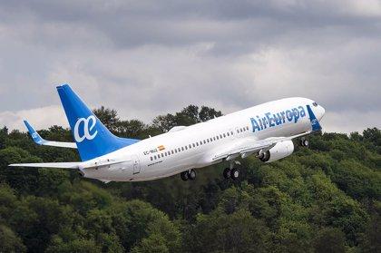 Air Europa refuerza en Navidad sus vuelos entre Asturias y Baleares