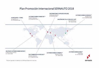 Sernauto concluye su plan de promoción internacional tras participar en ocho ferias