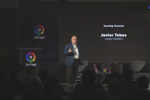 Javier Tebas, presidente de LaLiga en la India